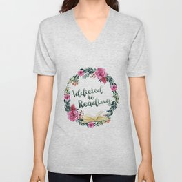 Addicted to Reading Unisex V-Neck