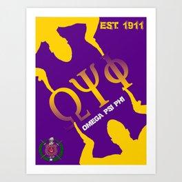 Omega Psi Phi (Divine Nine Series) Art Print