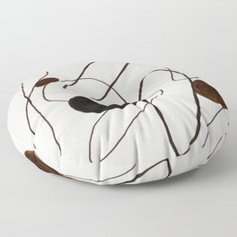 Caugth In Abstraction Floor Pillow