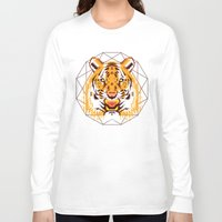 thundercats Long Sleeve T-shirts featuring Geometric Tiger by chobopop