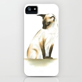seal point siamese cat 1 iPhone Case