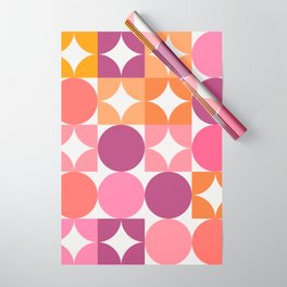 Mid Century Shimmering Sunset Wrapping Paper