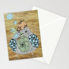 Sherlock Sparrow with pink background Stationery Cards