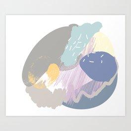Muffin mess Art Print