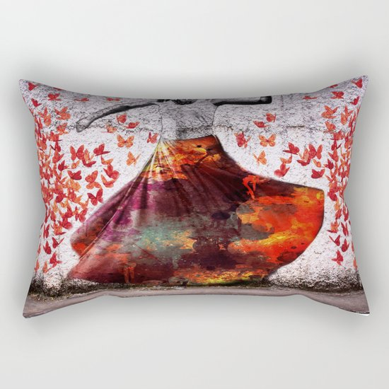 Flying Skirt Rectangular Pillow