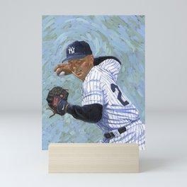 𝓜𝓛𝓑 - Society6 - New York - Hall Of Fame - Baseball - Derek Sanderson 𝕵𝖊𝖙𝖊𝖗 - 2 - A432 Mini Art Print