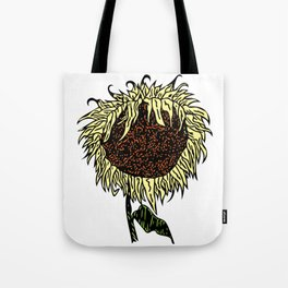 Wilting Sunflower Tote Bag