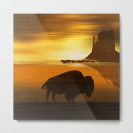 The lonely bison Metal Print