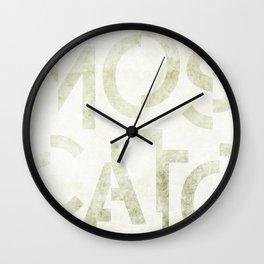 Moscato Wine Typography Wall Clock