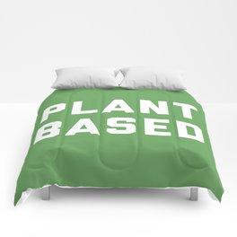 Plant Based Vegan Quote Comforters