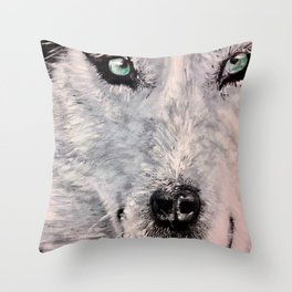 Spirit of White Wolf Throw Pillow