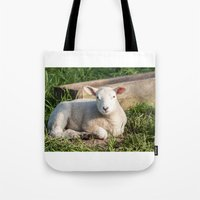 lamb Tote Bags featuring lamb by Marcel Derweduwen