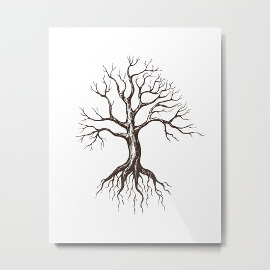 Bare tree Metal Print