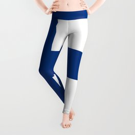 Flag of Finland - High Quality Image Leggings