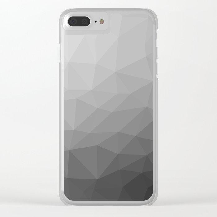 Grey Gradient Geometric Mesh Clear iPhone Case