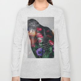 Man's back with flowers Long Sleeve T-shirt