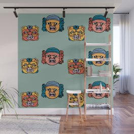baroque masks from ACIREALE by Laura Pizzicalaluna  Wall Mural