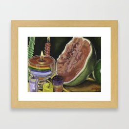 The Romantic Watermelon Framed Art Print