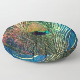 peacock feather Floor Pillow