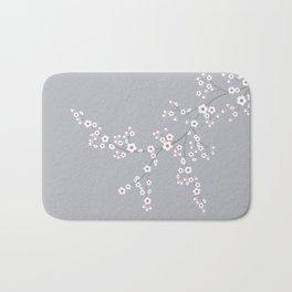Abstract Japanese Floral Bath Mat