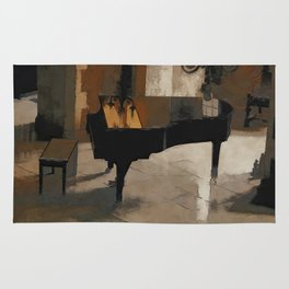 Grand Piano Artwork Rug
