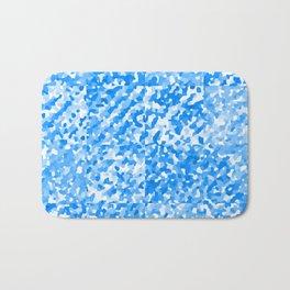 Blue Delight (Squares) Bath Mat