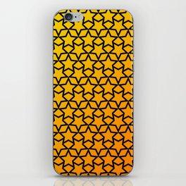 Yellow and orange stars pattern iPhone Skin