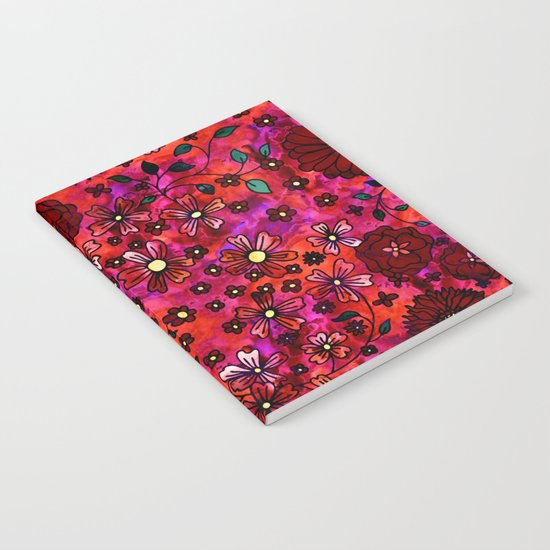 Red Small Flowers Notebook