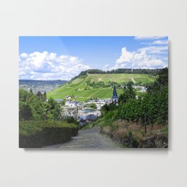 Traben-Trarbach as seen from above Metal Print