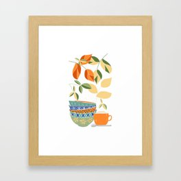 Happy Kitchen Framed Art Print