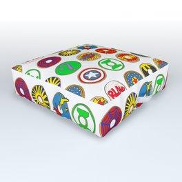 Superhero Donuts Outdoor Floor Cushion