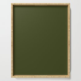 CHIVE dark green solid color Serving Tray