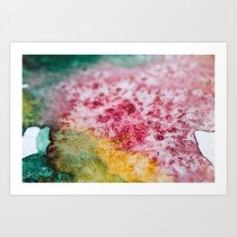 Blending Colors, Watercolor Art Print