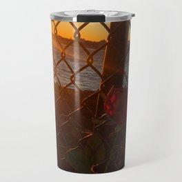 February Sunset at Bug Light (5) Travel Mug