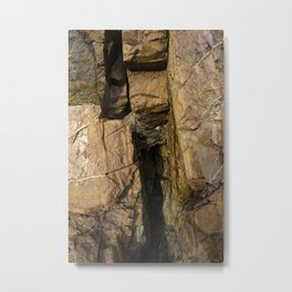 Door into the Cliff Face Metal Print