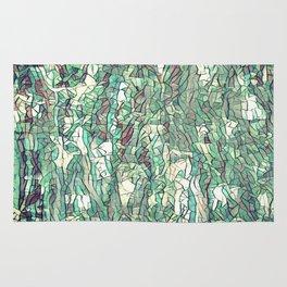 Abstract green Rug