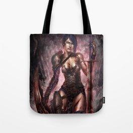 Female Warrior Tote Bag