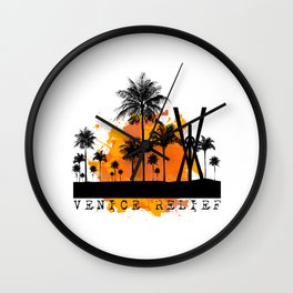 Venice Sunset Wall Clock