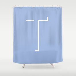 The Letter T Shower Curtain