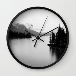 Maligne Lake | Landscape Photography | Alberta | Canada Wall Clock