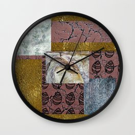 textures and doodles 1 Wall Clock