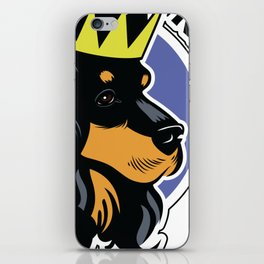 Black and tan cocker spaniel head iPhone Skin