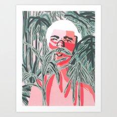Plants on Pink Art Print