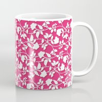 lace Mugs featuring Lace by Mr & Mrs Quirynen