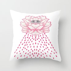 blood tears Throw Pillow