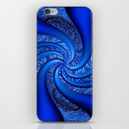 Twisted in Blue... iPhone Skin