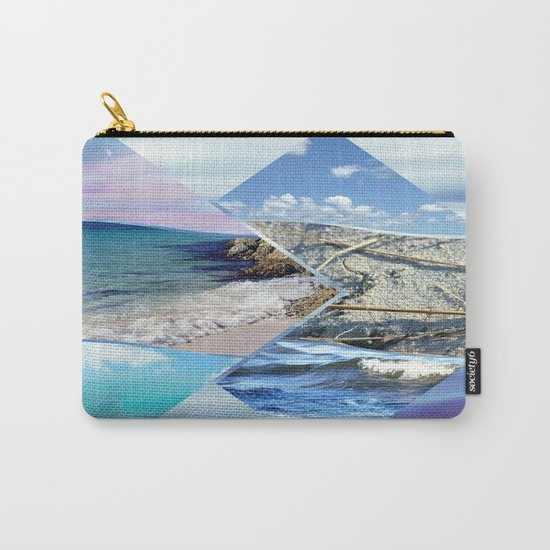 Sea, Sand and Sky Collage Carry-All Pouch
