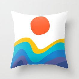 Abstract Y Minimum Colorful Pattern Throw Pillow