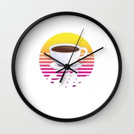 Caffeine Beverages Coffee Brewer Beans Retro Coffee Drinker Gift Wall Clock
