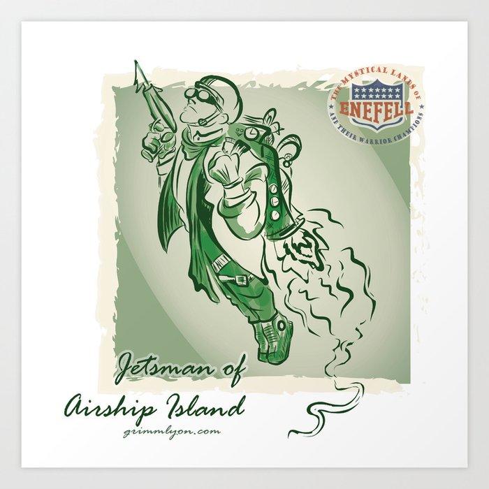 Jetsman of Airship Island Art Print